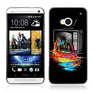 YOYOSHOP [Cool TV Colors Art] HTC One M7 Case by Maris's Diary