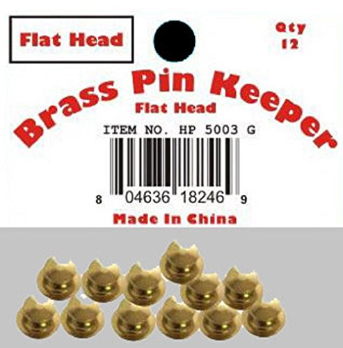 ALBATROS (72 Pieces) Pin Keepers Backs Locks Locking (Flat Head Gold) for Home and Parades, Official Party, All Weather Indoors Outdoors ()