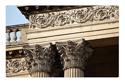 Tree26 Indoor Floor Rug/Mat (23.6 x 15.7 Inch) - Corinthian Columns Entablature Balusters
