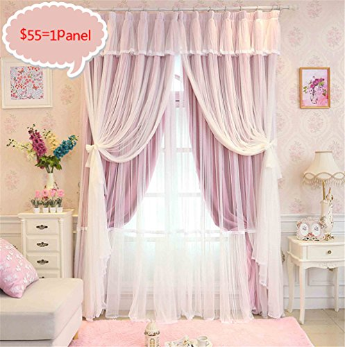 Buy pink ruffle curtains for bedroom girls