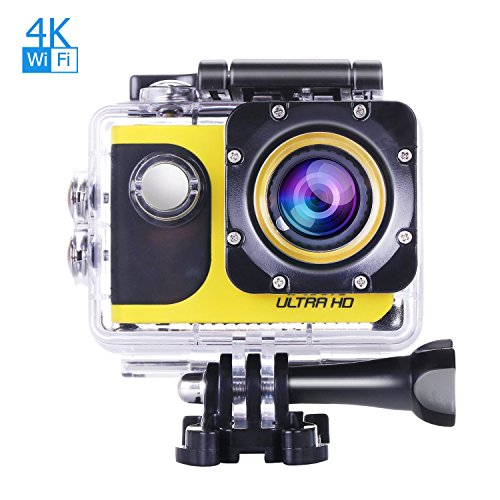 OldShark 2in1 4K WIFI Sports Action Camera and Car Dash C...