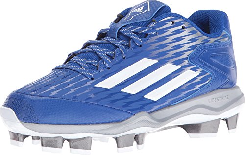 Rendement Adidas Femmes Poweralley 3 W Polyuréthane Thermoplastique Softball Taquet Collegiate Royal / Blanc / Gris Métallisé