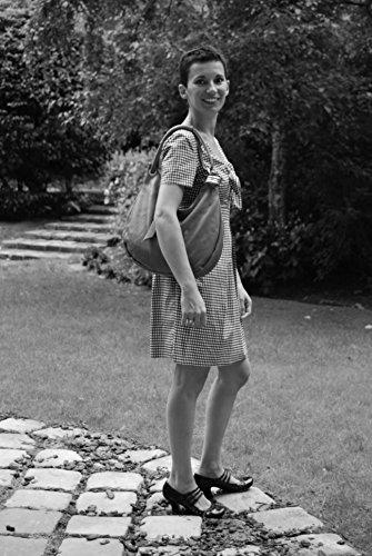 OH MY BAG - Bolso al hombro de Piel para mujer compacto COGNAC FONCE