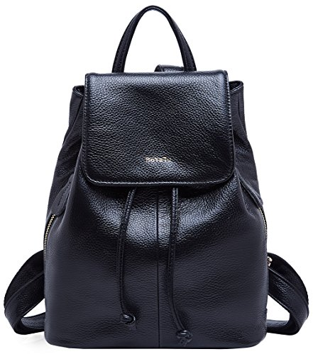 5b6cd84d95 Genuine Leather Mini Backpacks for Women Cute Travel Bags Small Purse for  Girls (Black). Brand  BOYATU