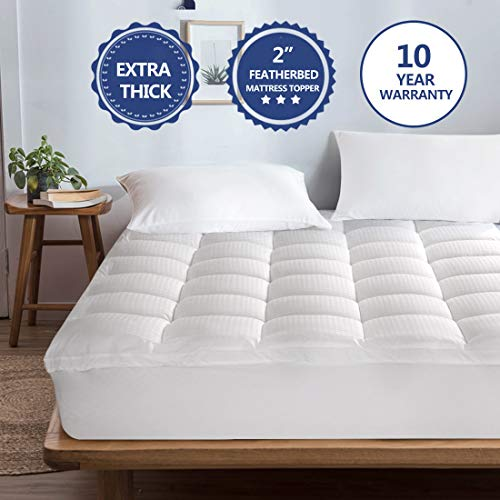 Starcast Mattress Topper Extra Thick (Queen) -Pillow Top Cooling Fitted Mattress Toppers Cover (Deep Pocket 8-21Inch)-400TC Down Alternative Quilted Mattress Pads