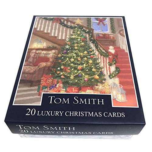 Tom Smith Luxury Boxed Traditional Christmas Cards Pack of 20 Indoor Christmas Scene (Christmas Tom Smith Cards)