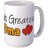 CafePress World's Greatest Oma Large Mug Coffee Mug, Large 15 oz. White Coffee Cup