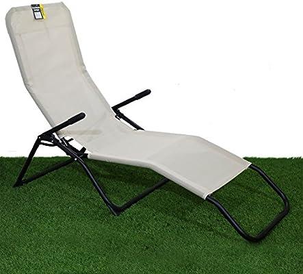 Pleasant Rocker Lounger Cream Sun Chair Recliner Outdoor Garden Furniture Folding Chair Caraccident5 Cool Chair Designs And Ideas Caraccident5Info