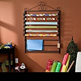 Cute, Accessible and Affordable Upton Home Leal Wrapping Paper & Craft Storage Rack - Black