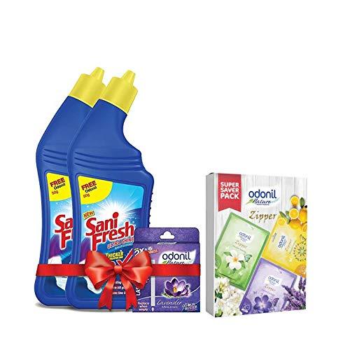 Sanifresh Ultrashine 1L(500 + 500 ml) Toilet Cleaner -1.5X Extra