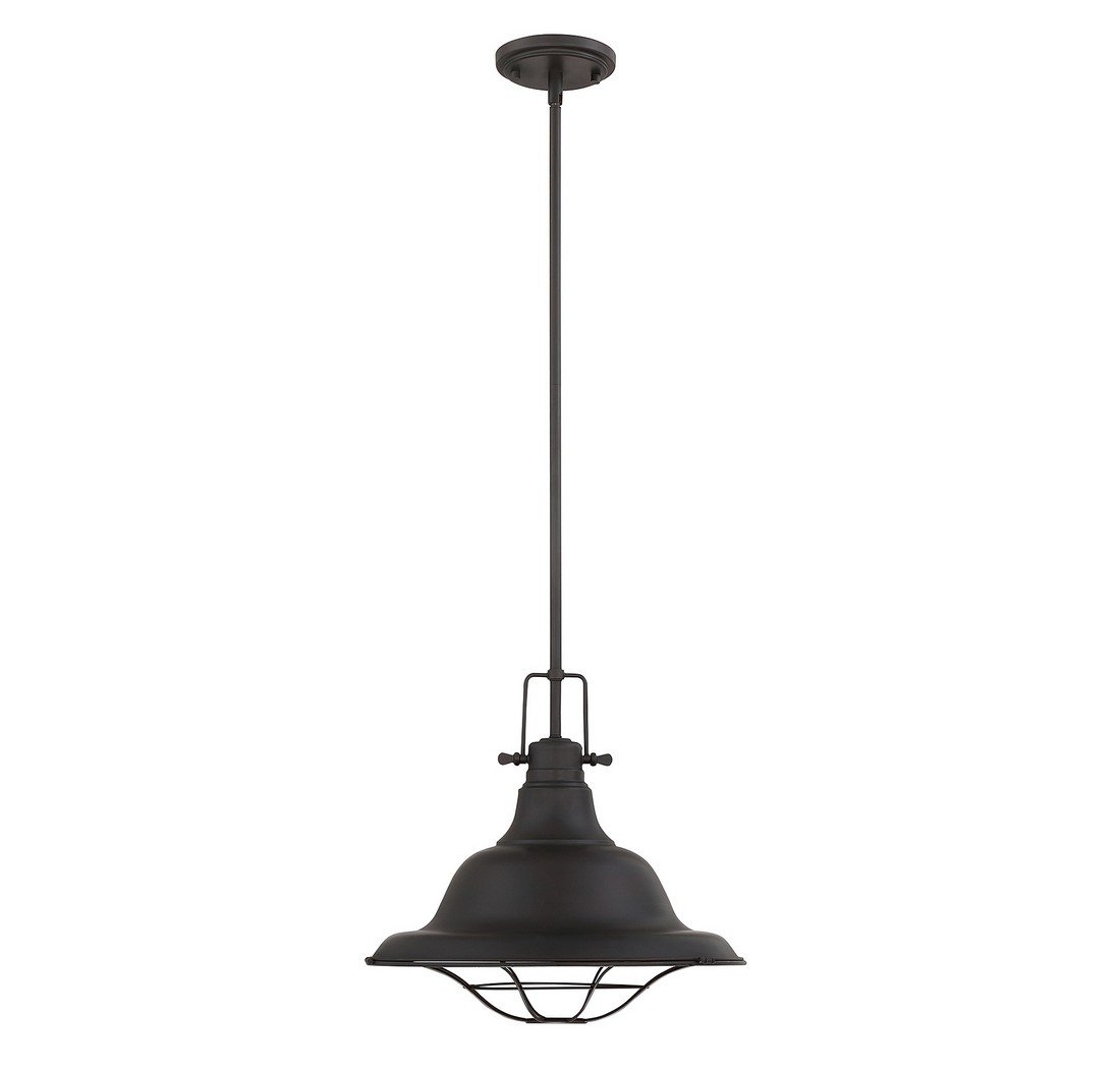 Trade Winds TW021337ORB 1-Light Industrial Pendant in Oil Rubbed Bronze