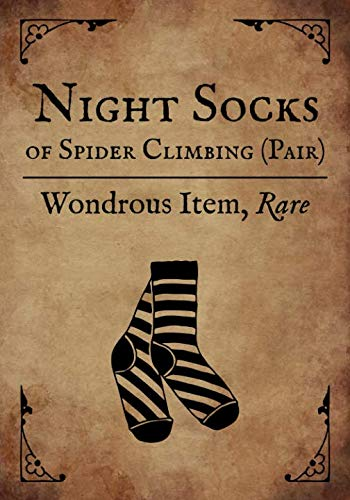 RPG Journal: Blank college ruled notebook for role playing gamers: Wondrous Item: Night Socks