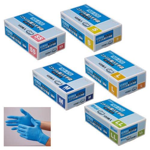 ニトリル極うす手袋 NS-470 NS470 06448(SS)100(24-2571-00)【20箱単位】 B00JT5W47Y