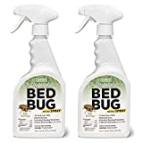 Harris Natural Bed Bug Killer, Fast Acting 20oz Non-Toxic Spray with Extended Residual (2-Pack)