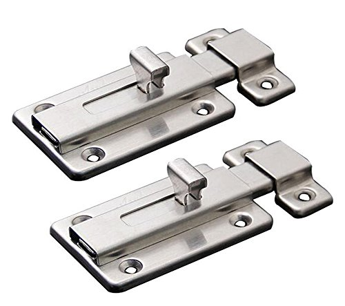 NELXULAS Stainless Steel Door Latch Sliding Lock Barrel Bolt -
