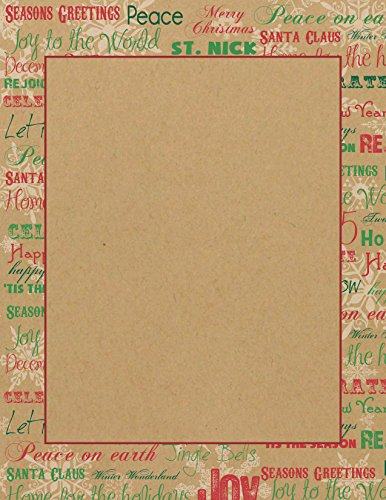 Geographics Words Christmas Letterhead, 8.5 x 11 Inches, Red Green Foil, 25-Sheet Pack (49745W) (Geographics Paper Christmas)