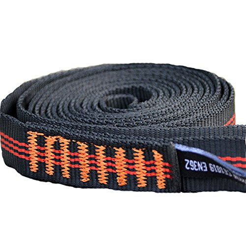 22KN 60cm Climbing Sling Safety Bearing Strap Rope Flat Belt For Outdoor Mountaineering tow strap flat belt hammock straps plastic belt rope climbing by Randall Elliott