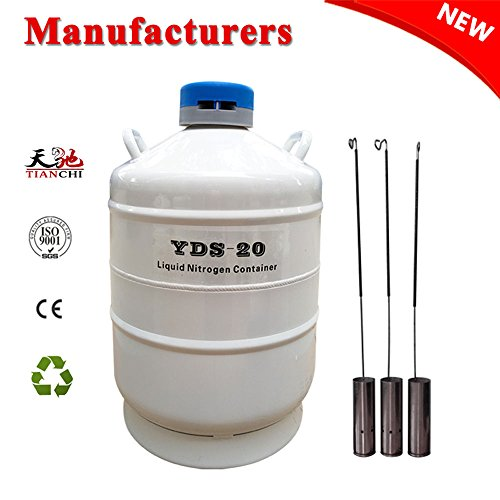 age Tank 20L 50 mm Diameter Semen Dewar Flask 20 Liter Container With Cover Factory Outlet ()
