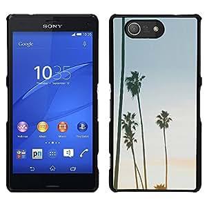 LECELL--Funda protectora / Cubierta / Piel For Sony Xperia Z3 Compact -- Árboles Sky Summer Beach Tropics --