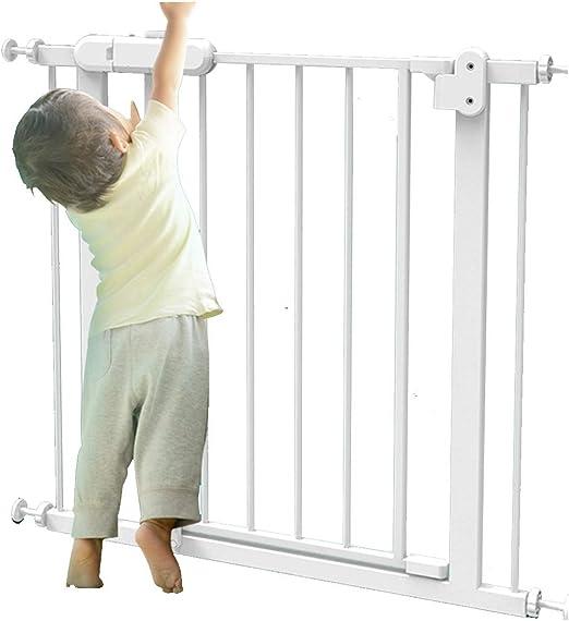 Valla Seguridad Barreras de puerta La Cerca For Mascotas Perro Del Animal Baranda Puertas De Cierre Automático De Seguridad Del Bebé Puertas De Escaleras Barandas De Escalera Dual Lock: Amazon.es: Hogar