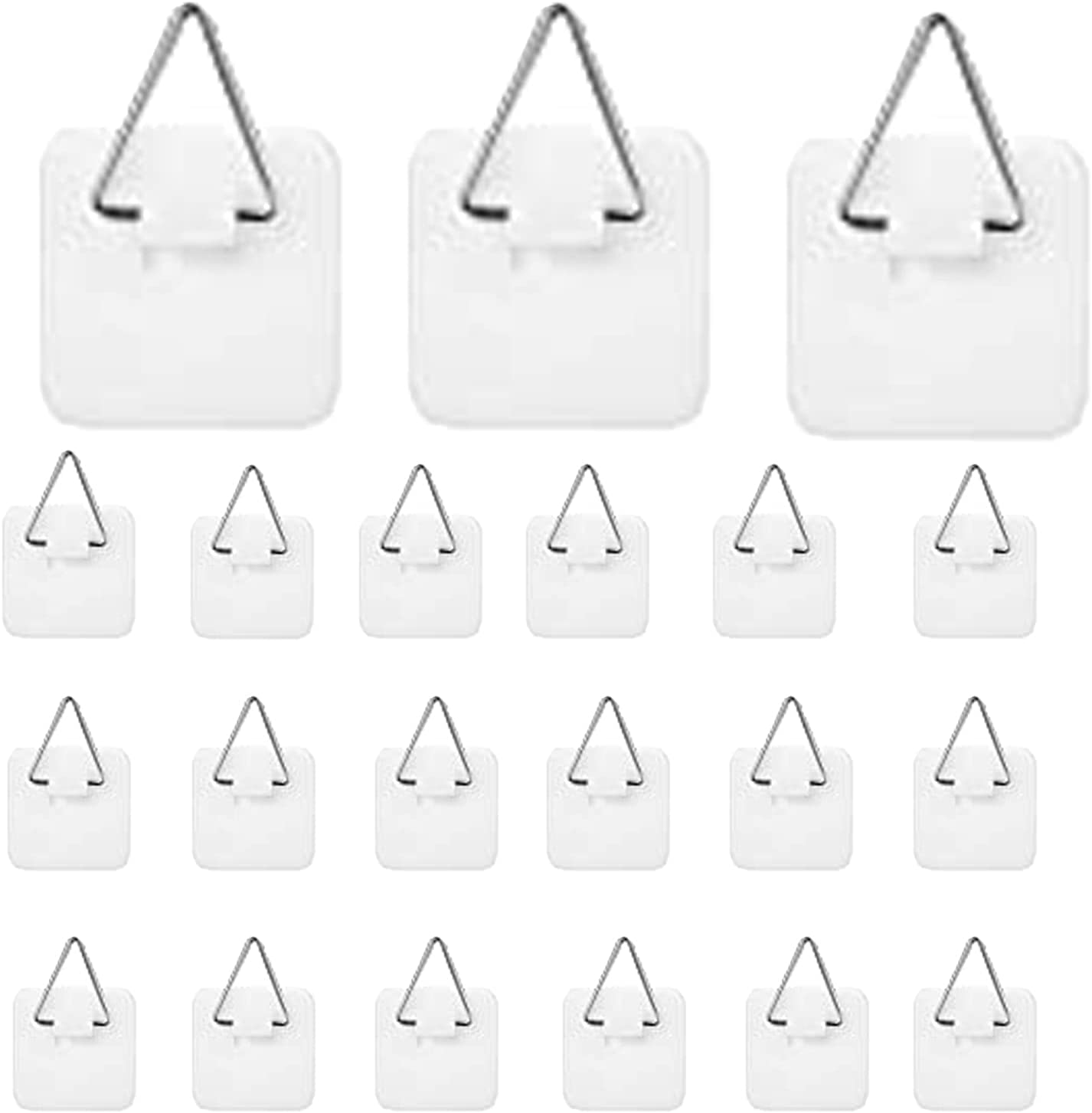 40 Pcs Sticky Hook, Plastic Hanging Hook, Invisible Adhesive Plate Hanger Set, Plate Hangers for The Wall Picture Hangers without Nails, for The Wall Plate Pictures Wall Art Decor Supplies