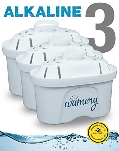 Water Filter Replacement 3Pack  Fits Wamery  Lake Ind  And Mavea Pitchers  Nsf Ansi Certified Cartridges  Remove Harmful Metals And Chemicals  Purify Kitchen Tap   Sink Faucet  Alkaline  Ceramic