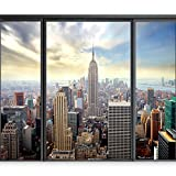 """photo wall murals  Photo Wallpaper New York 77""""x55"""" XXL Peel and Stick Self-Adhesive Foil Wall Mural Removable Sticker Premium Print Picture Image Design Home Decor 10110904-12"""