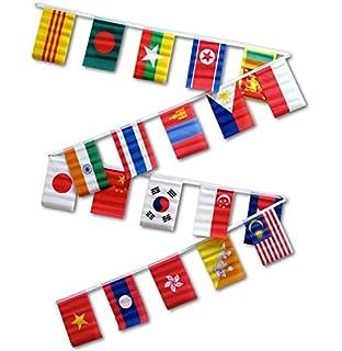 amazon com 30ft string flag set of 20 asian flags garden outdoor