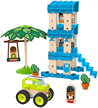 Fisher-Price 35-Piece Building and Wooden Track Play Set