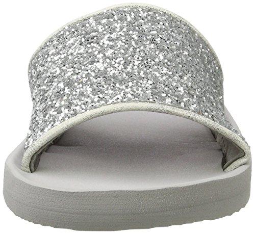 Silver Gris Esprit Glitter Mules Femme Francis BwBz1q6x