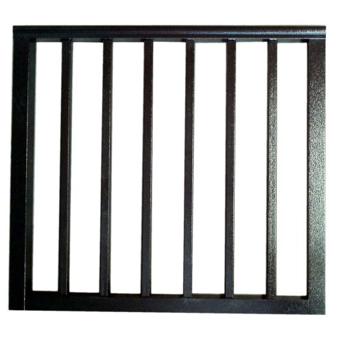 Contractor Deck Railing 36in x 36in Aluminum Residential Gate – Hammered Black
