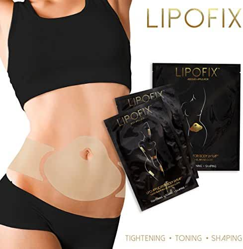 LipoFix Ultimate Body Wrap Lipo Applicator it works for Inch Loss Body Firming Contouring Shaping 12 wraps set (4 Abdomen + 4 pair (8 pcs)Body wraps applicators )
