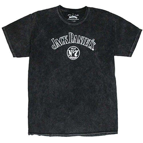 Jack Daniels Vintage Wash Old No. 7 Logo Men's T-Shirt-XL -
