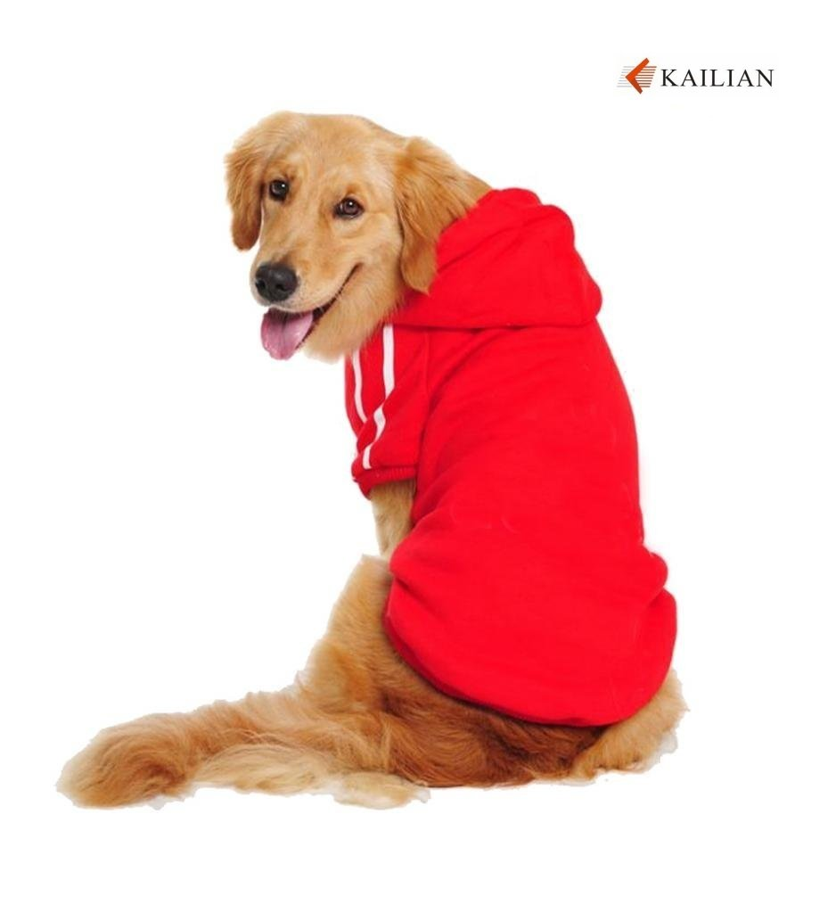 Kailian Big Dog Clothes for Large Dog Hoodies for Large Dog Coats Sweaters for Medium to Large Dogs Red 4XL