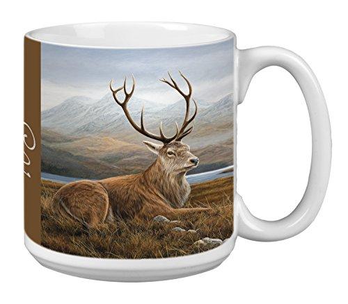Tree-Free Greetings Extra Large 20-Ounce Ceramic Coffee Mug, Classic Elk Themed Wildlife Art (XM29704)