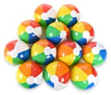 "12"" Rainbow Beach Balls (12 Pack); Inflatable 12pc Beach Ball Pool Toys"