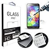 ANGELLA-M Galaxy Core G386F Screen Protector, HD Clear Tempered Glass Screen Protectors for Samsung Galaxy Core 4G G386F [Transparent]