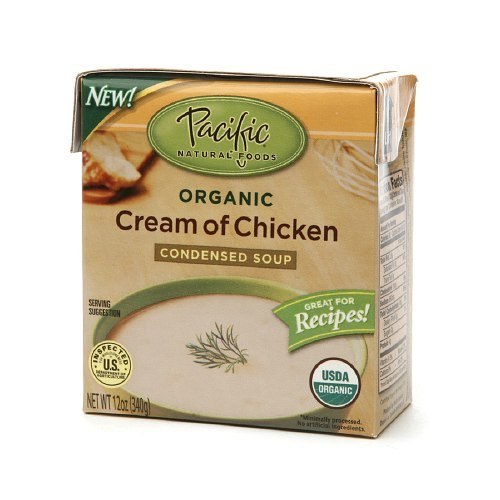 Pacific Natural Foods Soup, Condensed, Organic, Cream of Chicken, 12 Oz. (Pack of 4)