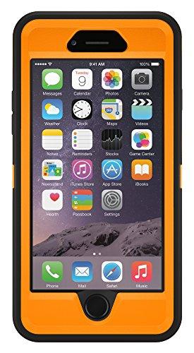"Latest OtterBox DEFENDER Case for Apple iPhone 6s and iPhone 6 Case (4.7"") - Retail Packaging - BLAZE ORANGE/BLACK orange iphone case 2"