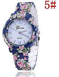 New Floral Flower Geneva Watch Bracelet Watch Women Dress Watches Quartz Wristwatch