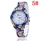 New Floral Flower Geneva Watch Bracelet Watch Women Dress Watches Quartz Wristwatch