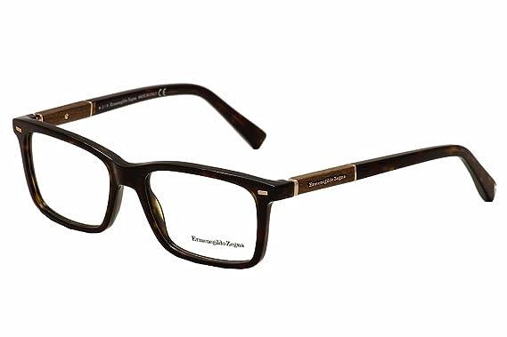 7ac3e176b93 Amazon.com  ERMENEGILDO ZEGNA Eyeglasses EZ5037 052 Dark Havana 54MM ...