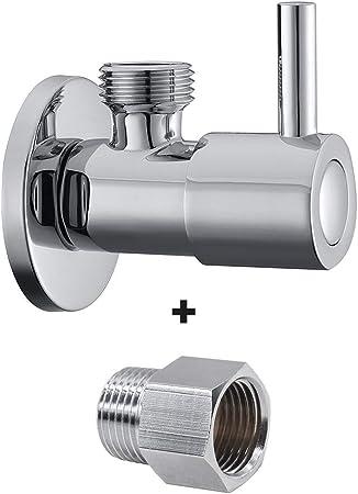 "Antique Quarter Turn Bathroom Faucet Angle Stop Valve 1//2/"" Male Handle Control"