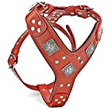 Bestia EROS Red Big Dogs Leather Harness. Padded. Handmade in Europe!