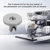 Dishwasher Accessory Wheels Roller Universal For AEG Favorit Privileg Zanussi 8 PCS Kit For GE Profile Lower Rack