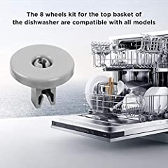Description:The 8 wheels kit for the top basket of the dishwasher are compatible with all models, which is a small but important accessoryYou can extend the life of your equipment and get better washing quality.For AEG Favorit, Privile...