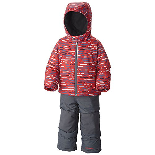 Columbia Little Boys' Toddler Frosty Slope Set, Bright Red Print, 2T