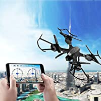 Hanbaili Upgraded 2 Million Pixels WIFI Camera Intelligent Remote Control Drone Real-time Transmission,CE Certification Altitude Hold RC Drone with Headless Mode for Kids