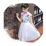 Elegant Qipao Girls Dress Cheongsam Children Clothing Vintage Flower Kids Clothes Baby Girl Summer Dresses Teenager,Style Twenty Two,11