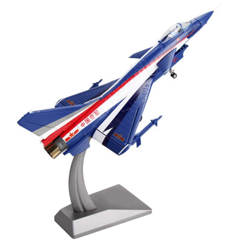 Xuping Erwachsenes vorbildliches Spielzeug, Simulationsflugzeug-Modell statischer Kämpfer-Modell-Andenken/Verzierungen/Geschenke/Handwerk/Feiertagsgeschenke (Farbe : Blau)